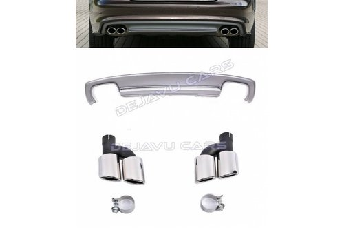 OEM LINE S7 Look Diffuser + Exhaust tail pipes for Audi A7 4G S line / S7