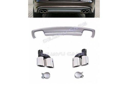 OEM LINE S7 Look Diffuser + Uitlaat sierstukken voor Audi A7 4G S line / S7