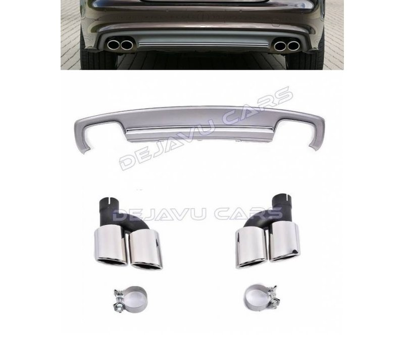 S7 Look Diffuser + Uitlaat sierstukken voor Audi A7 4G S line / S7