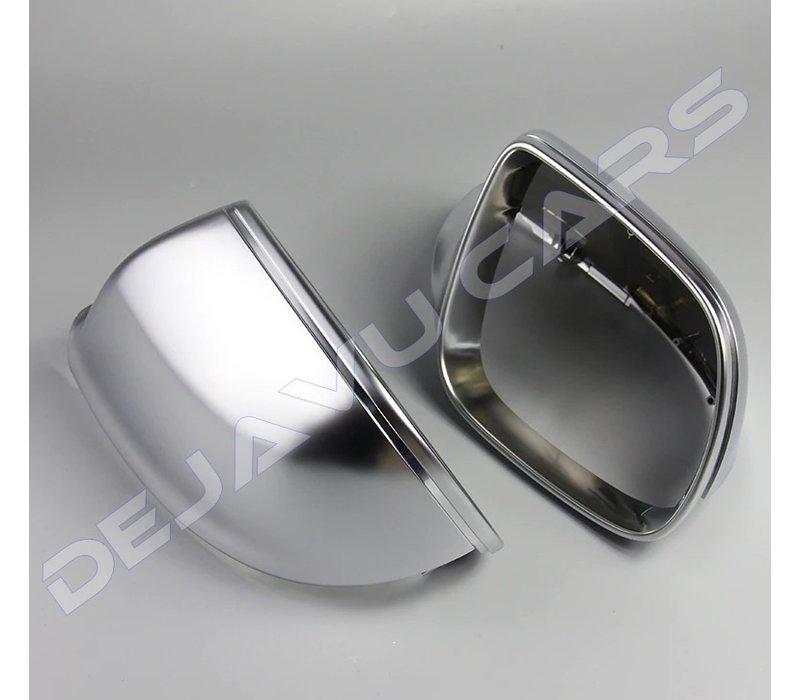 Mat Chrome Spiegelkappen voor Audi Q5, SQ5, Q7, SQ7, S line