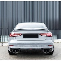Tailgate spoiler lip for Audi A3 8V, S3, RS3, S line