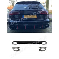RS6 Look Diffuser for Audi A6 C7.5 Facelift S line