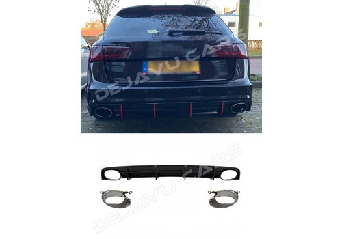 OEM LINE RS6 Look Diffuser voor Audi A6 C7.5 Facelift S line