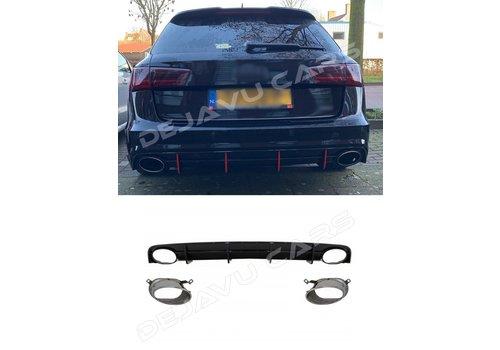OEM LINE RS6 Look Diffusor für Audi A6 C7.5 Facelift S line / S6