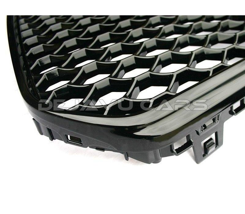 RS6 Look Front Grill Black Edition  voor Audi A6 C7 4G