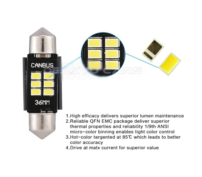 LED Innenraumbeleuchtung | T10/5W5 | Festoon 31mm 36mm 39mm 41mm