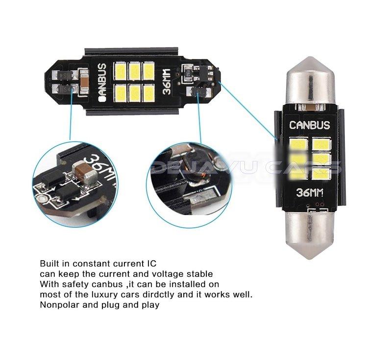 LED Interior Lights | T10/5W5 | Festoon 31mm 36mm 39mm 41mm