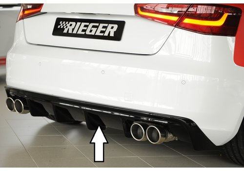 Rieger S3 look Diffuser for Audi A3 8V