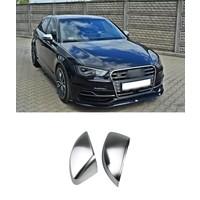 Mat Chrome Spiegelkappen voor Audi A3 8V, S3, S line, RS3