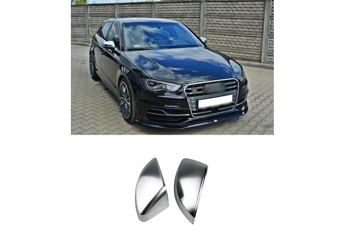 OEM LINE Matt Chrome Mirror Caps for Audi A3 8V, S3, S line, RS3