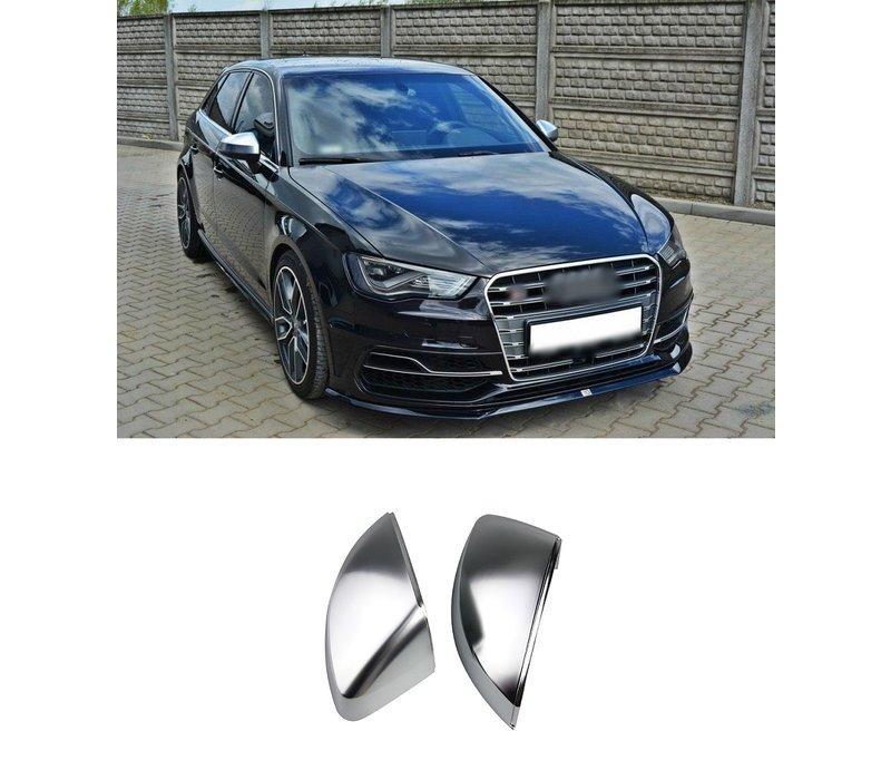 Matt Chrome Mirror Caps for Audi A3 8V, S3, S line, RS3