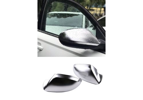 OEM LINE Matt Chrome Mirror Caps for Audi A6 C7, S6, S line, RS6