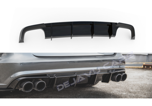 Maxton Design Aggressive Diffuser for Audi A6 C7.5 Facelift S line / S6