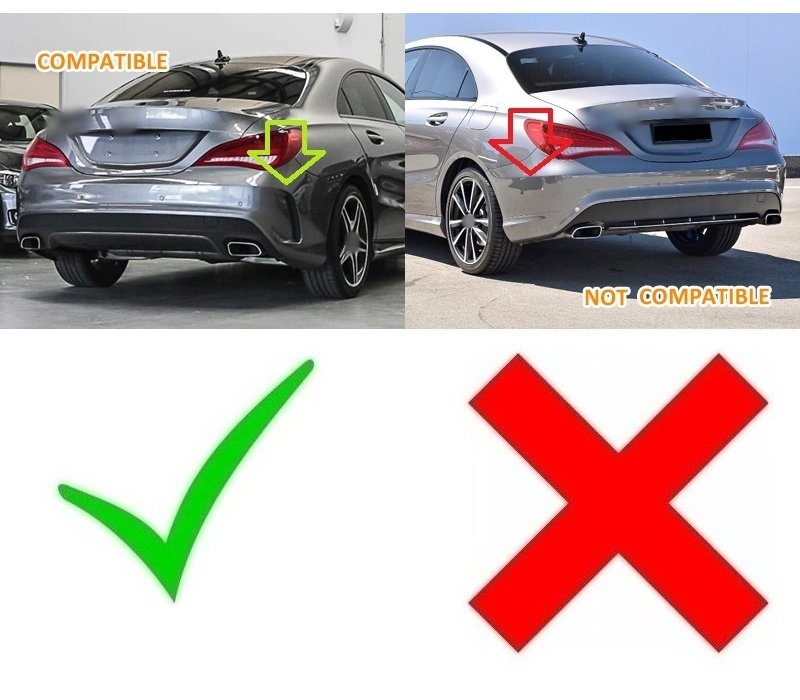 CLA45 AMG Look Diffuser Black Edition for Mercedes Benz CLA-Class W117 / C117