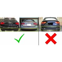 S line Look Diffuser Black Edition for Audi A4 B8
