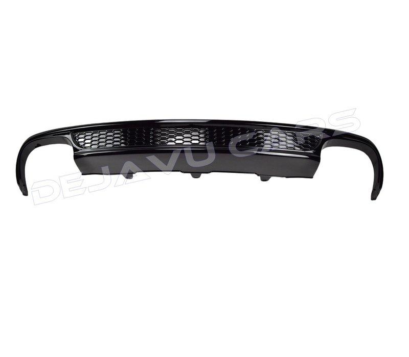 S line Look Diffusor Black Edition für Audi A4 B8