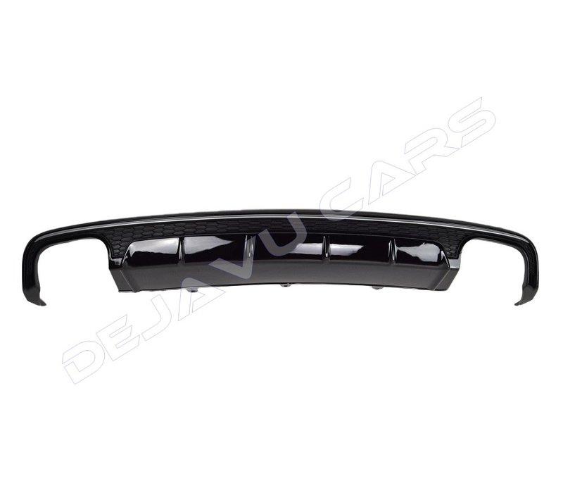 S6 Look Diffusor Black Edition für Audi A6 C7.5 Facelift