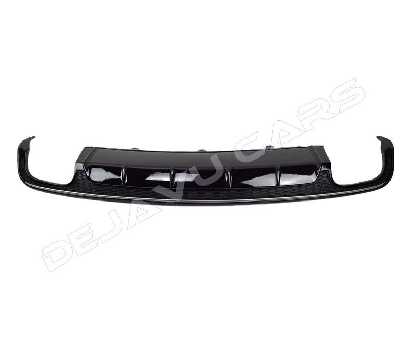 S6 Look Diffuser Black Edition + Uitlaat eind tips voor Audi A6 C7.5 Facelift