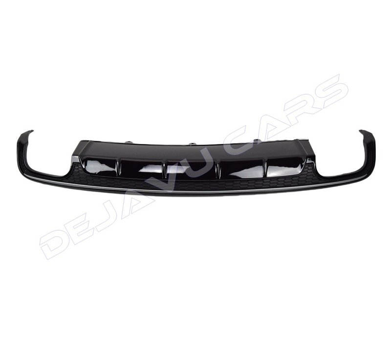 S6 Look Diffusor Black Edition + Auspuffblenden für Audi A6 C7.5 Facelift