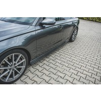 Side skirts Diffuser for Audi A6 C7.5 Facelift S line / S6