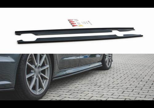 Maxton Design Seitenschweller Diffusor für Audi A6 C7.5 Facelift S line / S6