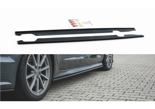 Maxton Design Side skirts Diffuser voor Audi A6 C7.5 Facelift S line / S6