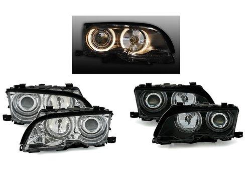 Eagle Eyes Xenon Look Koplampen met Angel Eyes voor BMW 3 Serie E46