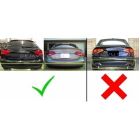 S line Look Diffuser Black Edition + Exhaust tail pipes for Audi A4 B8