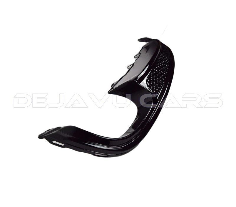S line Look Diffusor Black Edition + Auspuffblenden für Audi A4 B8