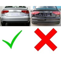 S line Look Diffuser Black Edition + Exhaust tail pipes for Audi A4 B8.5
