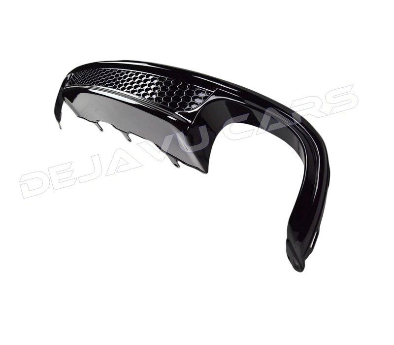S line Look Diffuser Black Edition + Uitlaat sierstukken voor Audi A4 B8.5