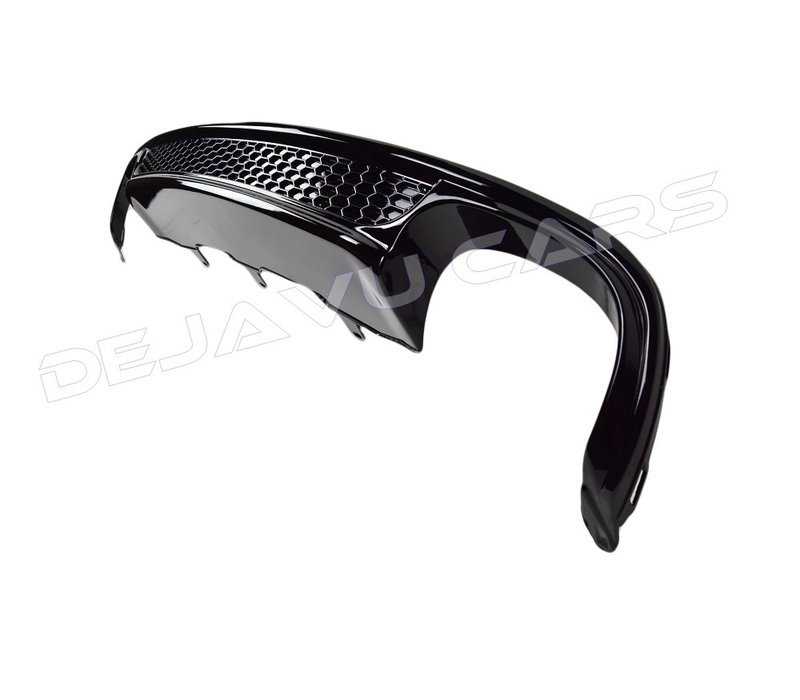 S line Look Diffuser Black Edition for Audi A6 C7 4G