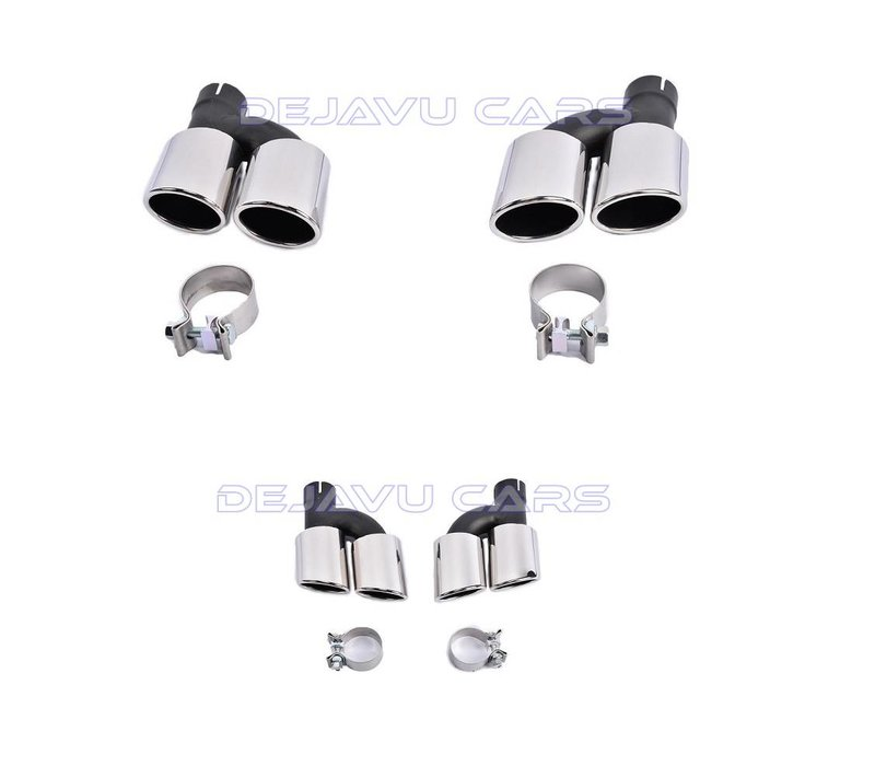 S line Look Diffuser + Exhaust tail pipes for Audi A6 C7 4G - Copy