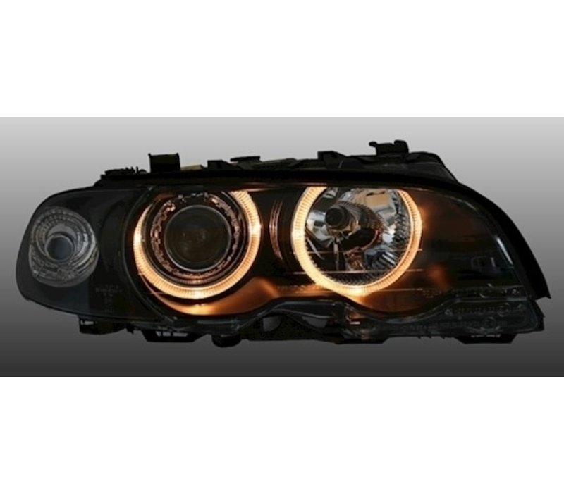D2S Xenon Headlights with Angel Eyes for BMW 3 Series E46