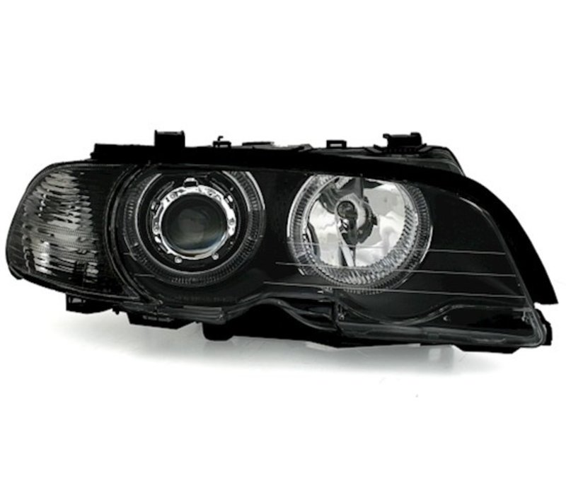 Xenon Look Koplampen met LED Angel Eyes voor BMW 3 Serie E46