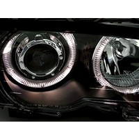 Xenon look Headlights with LED Angel Eyes for BMW 3 Series E46