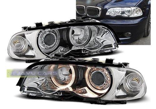 OEM LINE Xenon Look Koplampen met Angel Eyes voor BMW 3 Serie E46