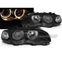 Xenon Look Koplampen met Angel Eyes voor BMW 3 Serie E46