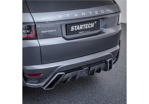 Startech Hintere Stoßstange mit Carbon diffusor für Range Rover Sport 2018