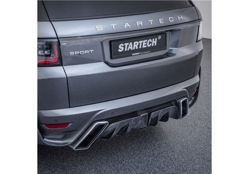 Startech Rear Bumper with Carbon diffuser for Range Rover Sport 2018