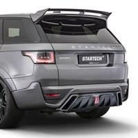 Hintere Stoßstange mit Carbon diffusor für Range Rover Sport 2018