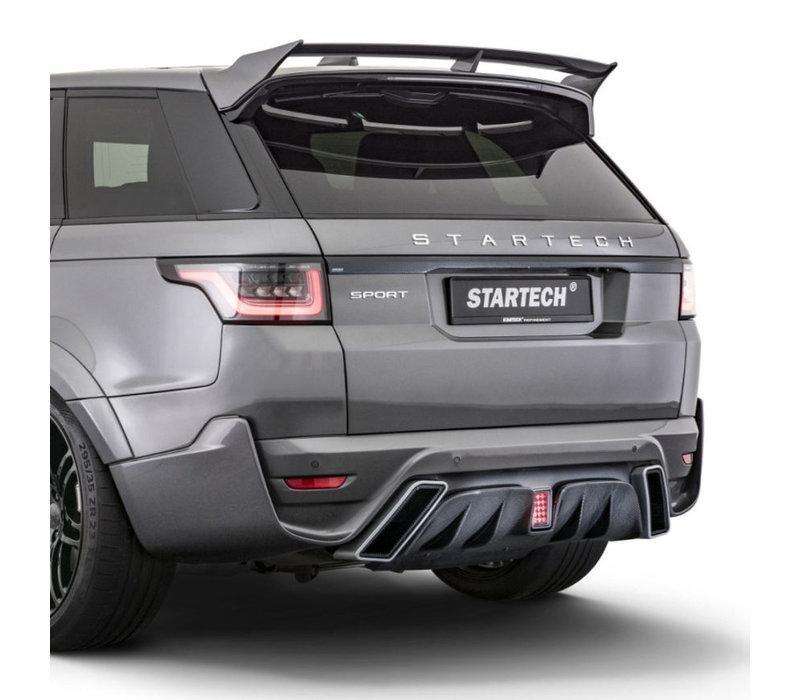 Achterbumper met Carbon diffuser voor Range Rover Sport 2018