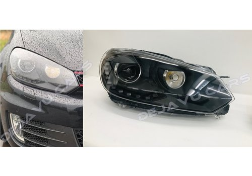 OEM LINE R20 Xenon Look LED Headlights for Volkswagen Golf 6