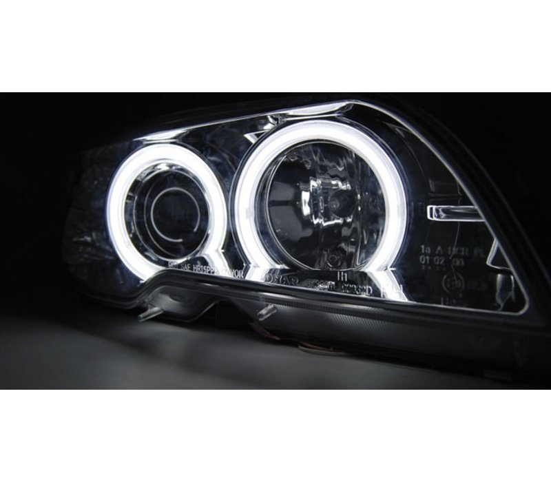 Xenon look Headlights with CCFL Angel Eyes for BMW 3 Series E46