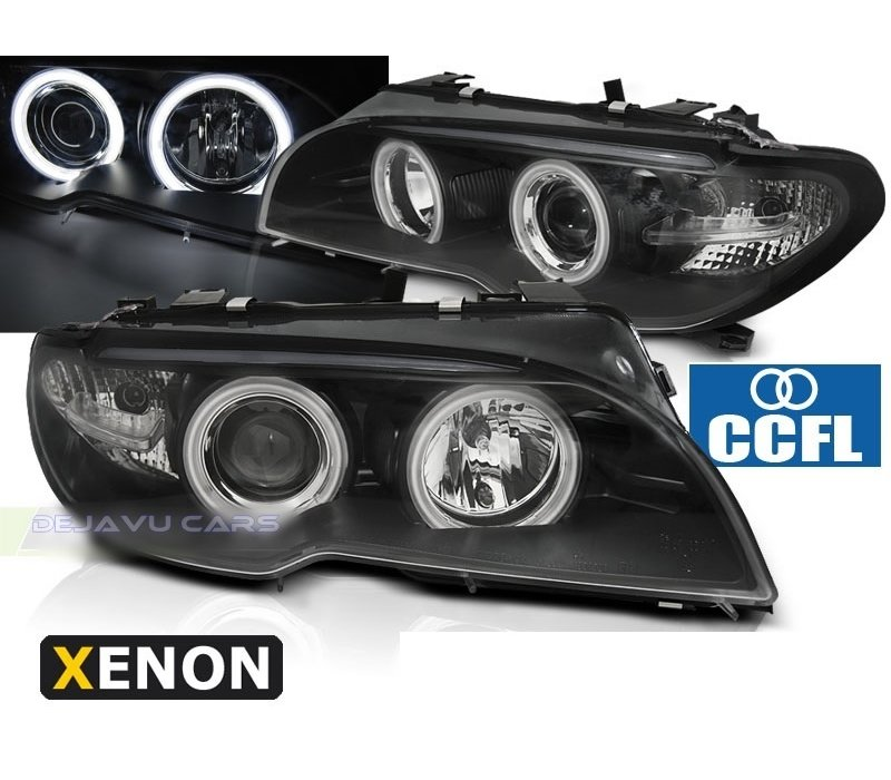 D2S Xenon Headlights with CCFL Angel Eyes for BMW 3 Series E46
