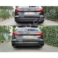 RS6 Look Diffuser voor Audi A6 C7.5 Facelift S line