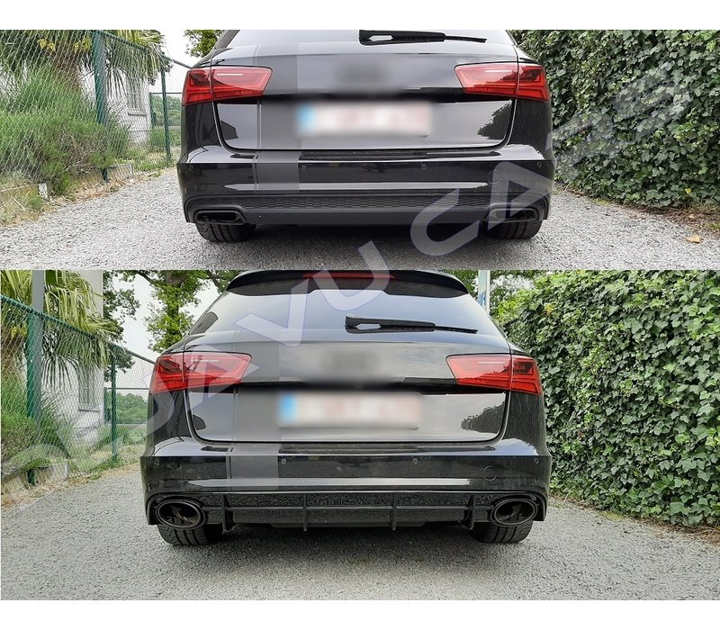 RS6 Look Diffusor für Audi A6 C7.5 Facelift S line / S6