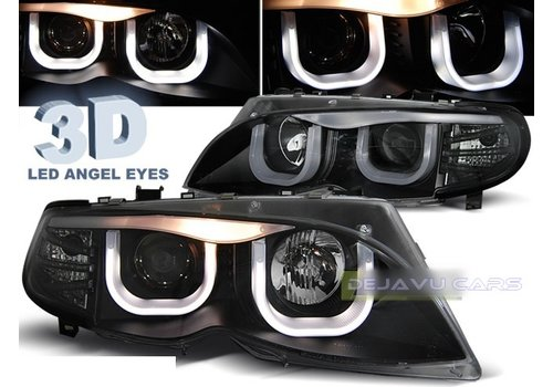 Sonar Xenon look Headlights with 3D LED Angel Eyes for BMW 3 Series E46
