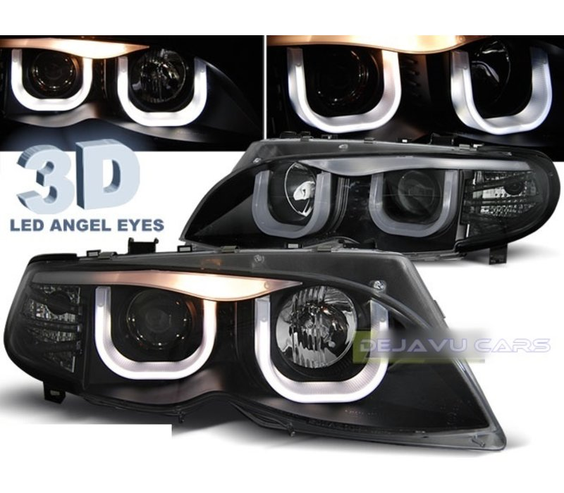 Xenon look Headlights with 3D LED Angel Eyes for BMW 3 Series E46