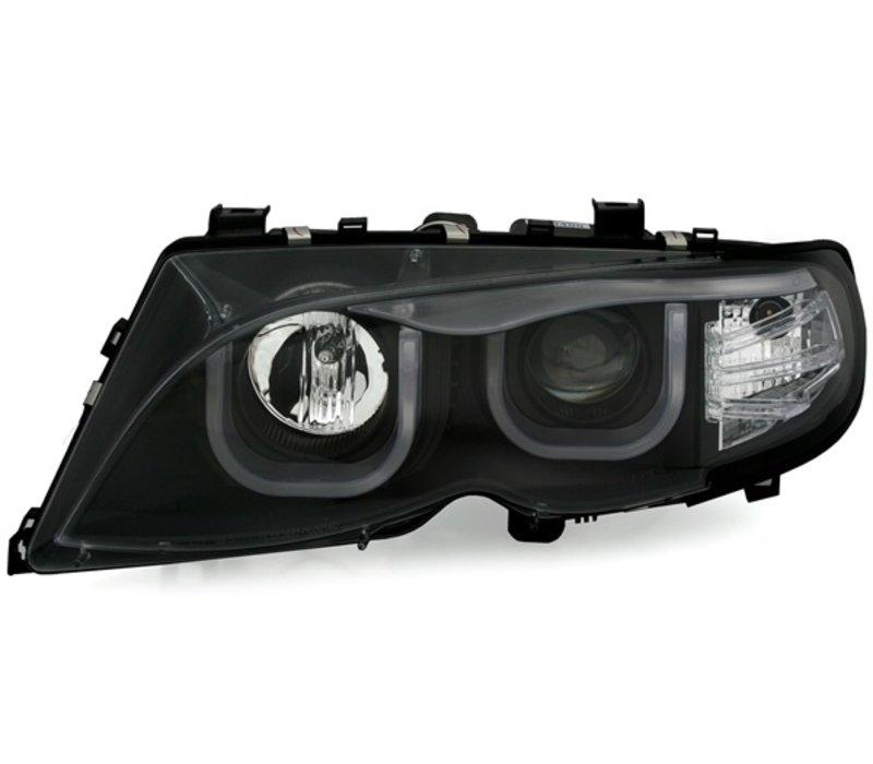 Xenon look Scheinwerfer mit 3D LED Angel Eyes für BMW 3 Serie E46